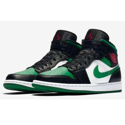 "Cheap Air Jordan 1 Mid 554724-067 ""Green Toe"" Replica For Sale"