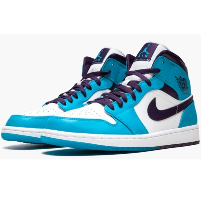 "Buy Best Air Jordan 1 Mid ""hornets"" 554724 415 For Women/Men Online"