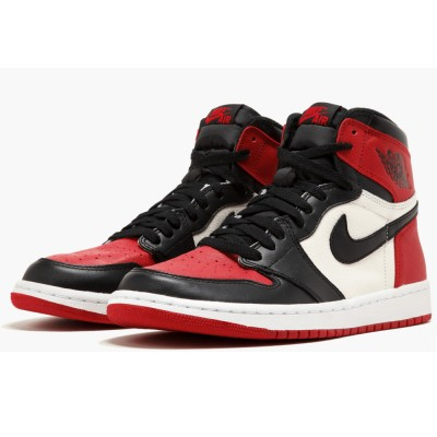 "Men's Jordan 1 Retro High 555088-610 ""Bred Toe"" For Sale"