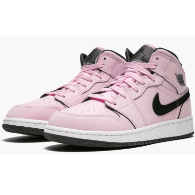 "Women's Air Jordan 1 Mid GS 555112-601 ""Pink Foam"" For Sale"