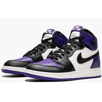 AAA Quality Air Jordan 1 Retro High OG GS 575441-501 'Court Purple'