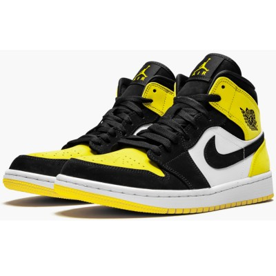 "2019 Air Jordan 1 MID SE 852542-071 ""YELLOW TOE"" For Sale"