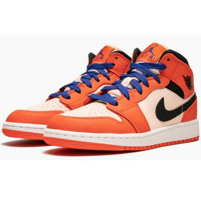 BQ6931-800 Nike Air Jordan 1 Mid SE GS Team Orange Arrived! Cheap Price