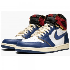 "Best Air Jordan 1 Retro HI NRG / UN ""Union - Storm Blue"" BV1300 146 On Sale"