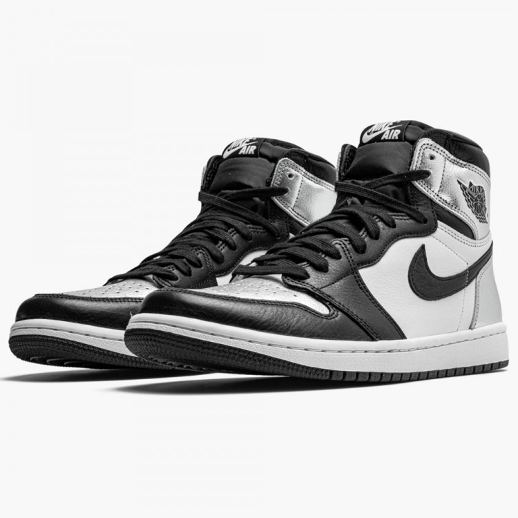 Unauthorized Authentic Air Jordan 1 Silver Toe CD0461-001 For Sale