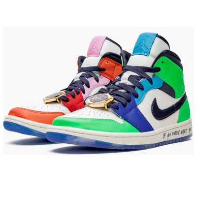 "CQ7629 100 Air Jordan 1 Mid WMNS ""Melody Ehsani - Fearless"" On Sale"