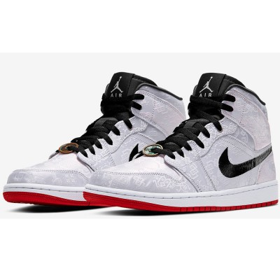 CU2804-100 2019 Men's CLOT Air Jordan 1 Mid Fearless